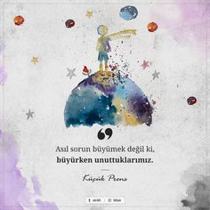 Movie Quotes, Book Quotes, Learn Turkish Language, Muster Tattoos, Tumblr Drawings, Quotes About Everything, Magic Words, The Little Prince, Meaningful Words