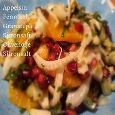 Appelsin, fennikel og granateplesalat