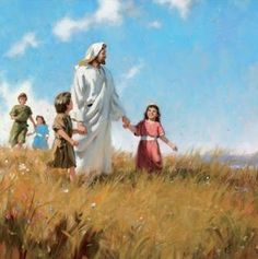 Jesus with children.