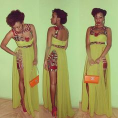 There are not enough words in the English language to begin to describe our latest edition of Ankara + Kente styles The collection, packed with the dramatic, threw punches filled… African Inspired Fashion, African Print Fashion, Africa Fashion, Ethnic Fashion, Look Fashion, Fashion Prints, African Prints, Fashion Styles, Fashion Dresses