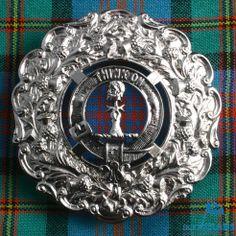 Clan Plaid Brooch  h