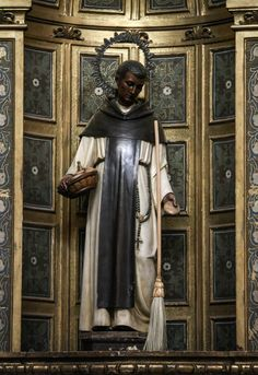 Saint Martin de Porres // Statue from the Dominican church of Nuestra Señora de Atocha in Madrid.// Photo: Lawrence OP