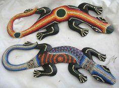Rainbow Colorful Geckos Lizards Eraser Set of 2