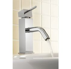 """Mico 3805 Single Handle Bathroom Faucet with Metal Lever Handle, 1-3/4"""" Spout Height and Drain Assembly from the Dual Collection $520"""