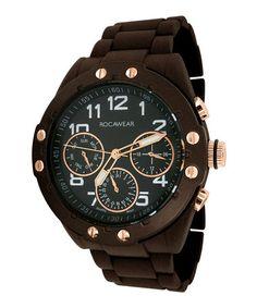 Loving this Brown & Black Triple-Eye Watch on #zulily! #zulilyfinds