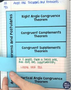 Angle Pair Relationships Proofs INB Pages Geometry Vocabulary, Teaching Geometry, Geometry Proofs, Math Lesson Plans, Math Lessons, Teaching Vocabulary, Teaching Tips, Math Homework Help, Math Writing