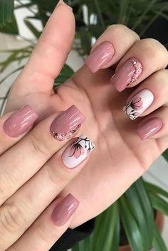Unhas rosas, unhas lindas, unhas delicadas, unhas decoradas in 2020 Classy Nail Designs, Cute Nail Art Designs, Colorful Nail Designs, Toe Nail Designs, Star Nail Art, Gel Nail Art, Bling Nails, Swag Nails, Cute Nails