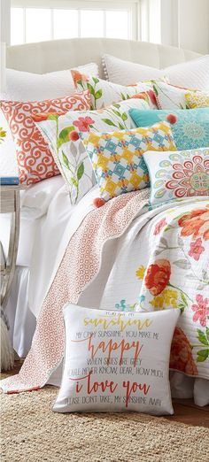 Girls Colorful Quilt Bedding Girls Colorful Quilt Bedding BuyerSelect Home Decor Fashion 038 Home Accessories buyerselect GIRLS ROOMS Girls Colorful Quilt Bedding The nbsp hellip bedding quilt Teen Girl Bedding, Girls Bedding Sets, Teen Girl Bedrooms, Little Girl Beds, Colorful Quilts, Colorful Bedding, Floral Bedroom, Quilt Bedding, Quilt Sets