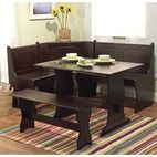 sears 3 pc. Nook Dining Set - Black - Furniture & Mattresses - Dining Room & Kitchen Furniture - Dining & Kitchen Tables