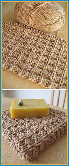 Dishcloth Knitting Patterns, Crochet Dishcloths, Knit Or Crochet, Knitting Stitches, Free Knitting, Baby Knitting, Crochet Patterns, Potholder Patterns, Vogue Knitting