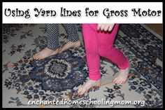 Using Yarn Lines for Gross Motor - Pinned by @PediaStaff – Please Visit ht.ly/63sNtfor all our pediatric therapy pins