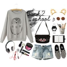 """Back to School 5"" by yoyomelody on Polyvore"