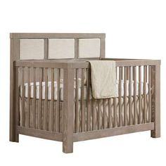 CRIB - Shown in Sugar Cane with Upholstered Panel