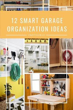 The garage is an extension of your home that has major potential. Some people keep it sacred for their cars while others want to utilize the space more creatively. In the spirit of #DIY, we think it's a great idea to use the space to straighten up, so we've got a few #garage #organization tricks and tips for awesome space-saving projects.