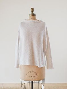 Stainless Steel Mohair Pullover | www.habutextiles.com