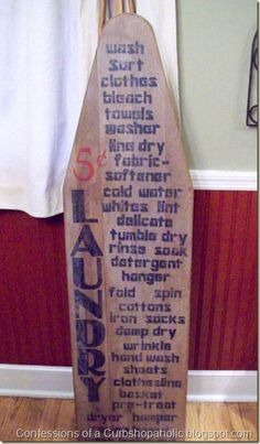 I have an old ironing board.  Might do something cute on it in my newly remodeled laundry room.