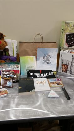 Assorted items donated by LifeWay Christian store, Fairlawn, OH.