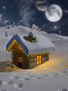 "GIF, ""Now that's what I call a Winter Wonderland"" ❄️ Christmas Scenes, Christmas Past, Christmas Pictures, Winter Christmas, Winter Snow, Christmas Christmas, Gif Noel, Holiday Gif, Winter Scenery"