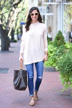 blush pink sweater   bishop&holland   dallas fashion blog