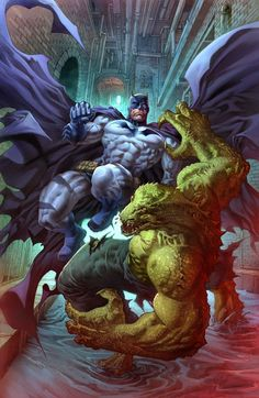 Batman vs Killer Croc •Alan Quah