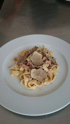Truffle Recipe, Truffles, Pancakes, Spaghetti, Breakfast, Ethnic Recipes, Food, Al Dente, Tagliatelle