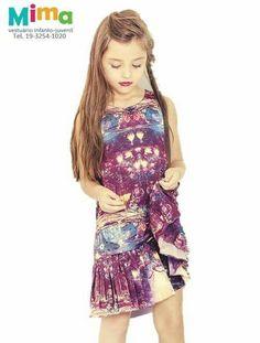 Vestido floresta para meninas