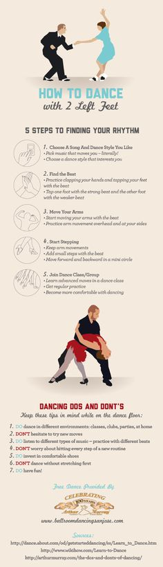 How to Dance with Two Left Feet [INFOGRAPHIC]
