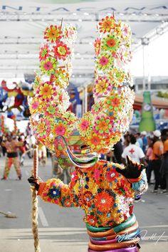 Diablo Cajuelo en el Carnaval celebrado el 27 de Febrero, RD