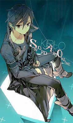 Kirito by Shioshiorz on DeviantArt Asuna, Kirito Sword, Sword Art Online Kirito, Kirito Kirigaya, I Love Anime, Awesome Anime, Anime Guys, Manga Anime, Arte Online