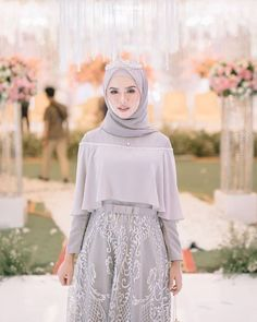 Hijab Evening Dress, Hijab Dress Party, Hijab Style Dress, Dress Brukat, Muslimah Wedding Dress, Casual Hijab Outfit, The Dress, Dress Outfits, Modern Hijab Fashion