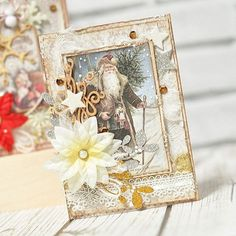 Love this Christmas card by Maja..! So beautiful. #card #cardmaking #cardinspiration #handmade #papercrafting #papercrafts #papercraft #scrapbooking #scrap #scrapping #majadesign #majadesignsweden #majadesigninsweden #majapapers #majadesignpaper #majadesignpapers #inspiration #homefortheholidays #vintage