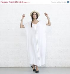 Hey, I found this really awesome Etsy listing at https://www.etsy.com/listing/189436007/on-sale-summer-kaftan-dress-white