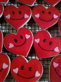 My favorite Valentine Smiley Face cookie
