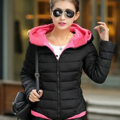 Find More Down & Parkas Information about New Winter Coat Slim Ladies Jackets Korean Fur Collar Hooded Coat Women Outwear Female Quilted Jacket,High Quality jacket children,China coat denim Suppliers, Cheap coat jacket men from Shenzhen Haillad International Trade Co., Ltd. on Aliexpress.com
