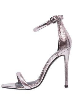 Classiques & Spartiates Missguided Sandales à talons hauts pewter metallic gris métallisé: 18,