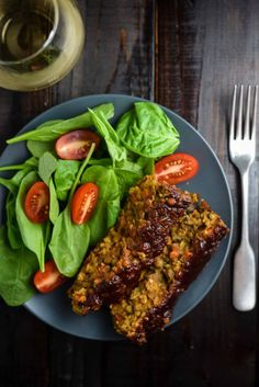 Vegan lentil loaf recipe that is chockfull of healthy vegetables and spices. A health alternative to the meat-focused classic. Pair with a glass of wine! Vegan Recipes Easy, Wine Recipes, Vegetarian Recipes, Vegan Vegetarian, Vegan Loaf, Sauteed Vegetables, Healthy Vegetables, Healthy Food, Lentil Loaf