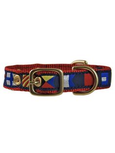 15 Preppy Dog Collars for Prim-and-Proper Pups Heated Dog Bed, Plastic Dog House, Embroidered Dog Collars, Flag Code, Wooden Dog House, Expensive Dogs, Sailing Gear, Cool Dog Houses, Brass Buckle