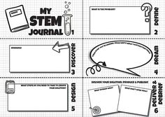 A Free STEM Project Journal for Solution Fluency Learning - fun STEM project journal to make the STEM planning process fun and simple with Solution Fluency. You can download it from the website.