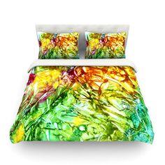"""Rosie Brown """"Kaleidoscope"""" Cotton Duvet   KESS InHouse #art #duvet #cover #bedding #homedecor #bedroom 3kessinhouse #abstract #watercolor"""