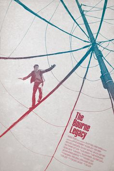 The Bourne Legacy - wire Art Print