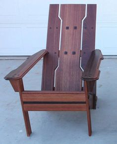Arts and Crafts bungalow style Adirondack chair.