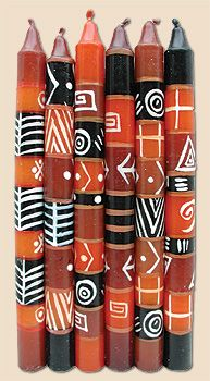 African Candles - African Tapers, Glowing Embers