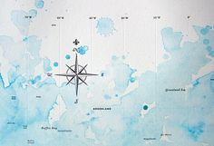 typographic world map with watercolor #letterpress