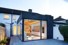 A Charred Wood And Glass Extension Was Designed For This Dublin Home