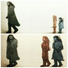 Time flies, even for dwarves who live hundreds of years. I don't like fanart usually, but The Hobbit fanart is adorable. fili and kili and thorin                                                                                                                                                     More