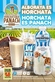Campaña Alboraya es horchata, horchata es Panach. Instalada en mupis publicitarios de Valencia durante el mes de agosto de 2015.