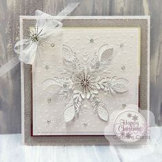Shop here at Chloes Creative Cards for excellent value Cut and Emboss by Chloe - Sparkling Snowflake at just You will also find a selection of other wonderful here too. Snowflake Cards, White Snowflake, Snowflakes, Chloes Creative Cards, Stamps By Chloe, Square Card, Embossed Cards, Snowflake Pattern, Christmas Cards