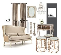"""""""Living Room...."""" by belleescape ❤ liked on Polyvore featuring interior, interiors, interior design, home, home decor, interior decorating, Niche Modern, Threshold, Chanel and living room"""
