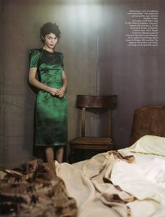 Audrey Tautou / photo by Paolo Roversi for Vogue Magazine UK (August 2009)
