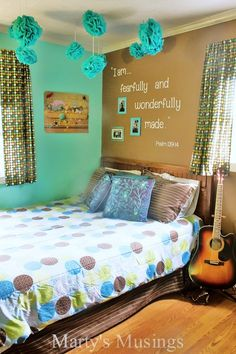 Teen Room Makeover + Learn How to Make Your Own Inspirational Scripture Wall Decal